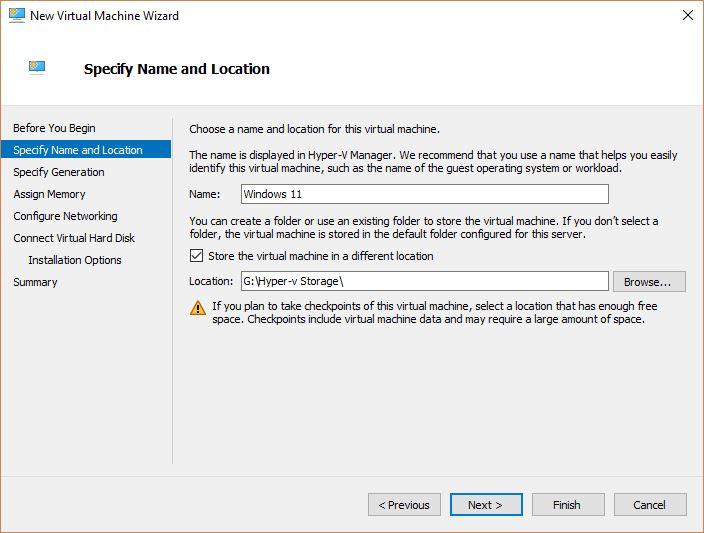Windows 10; Create Virtual Machine in Hyper-V - Technig