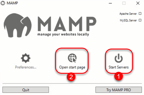Mamp Manager - Setup Local Web Server