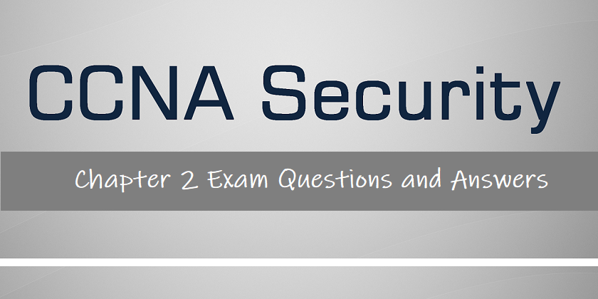 netacad cisco chapter 2 answers