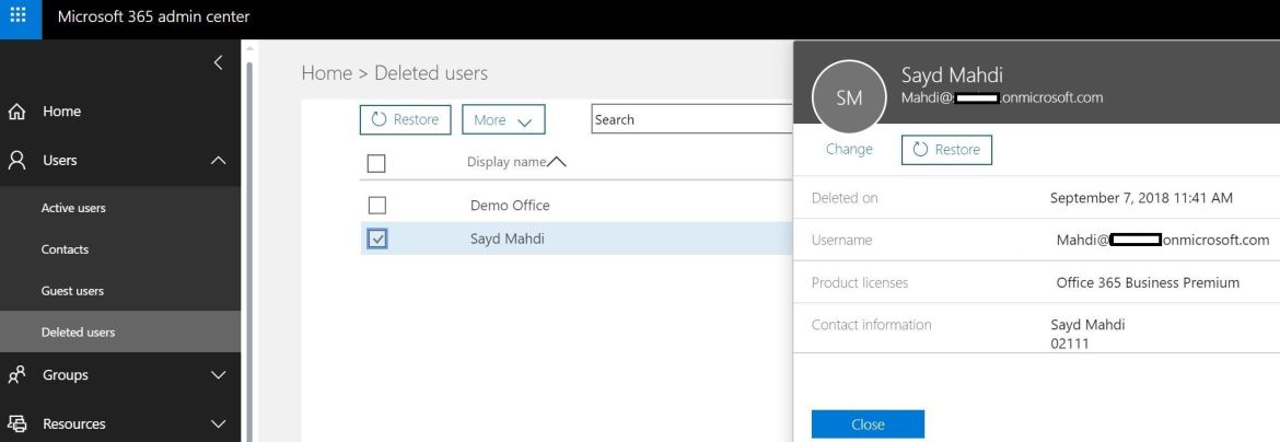How to Restore Deleted User Account in Office 365 - Technig