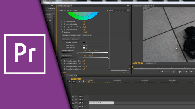 Adobe Premiere Video aufhellen