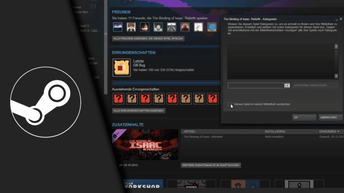 Steam Spiel verstecken