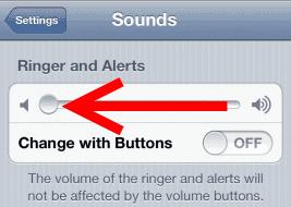 iOS slide ringer volume
