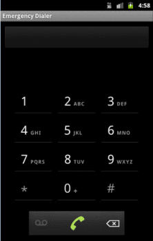 Android emergency dialer