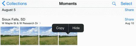 iOS Hide option