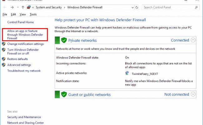 Windows 10 Allow Block Apps In Firewall