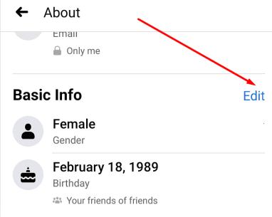 edit basic info facebook