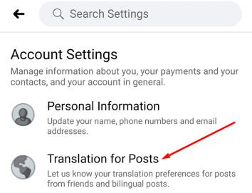facebook translation for posts