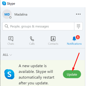 update skype