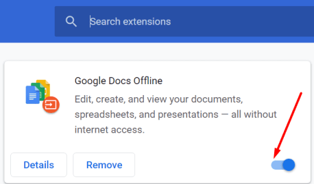 disable browser extensions chromium