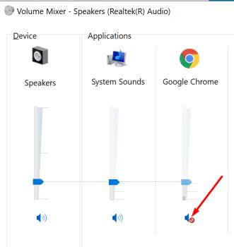 windows 10 volume mixer chrome