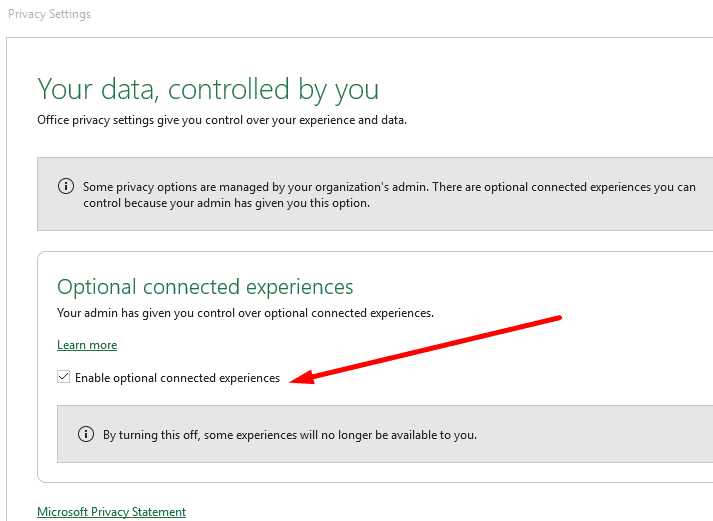 office 365 connected experiences