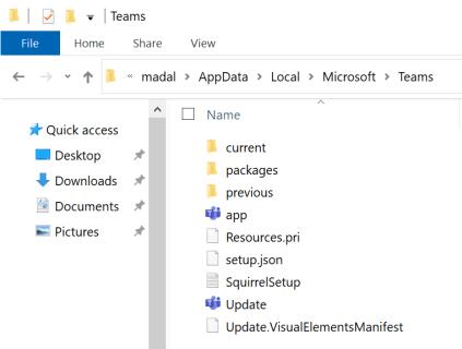 microsoft teams local appdata