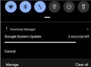 google pixel Check for updates