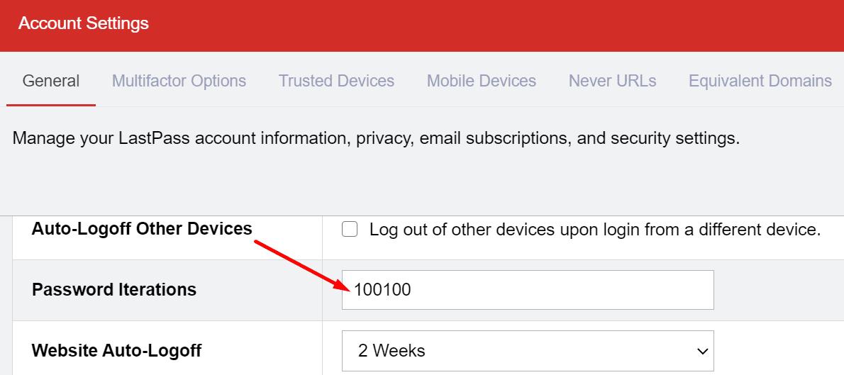 lastpass password iterations