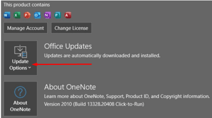 onenote office updates