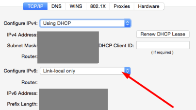 Link-local only ipv6 macos