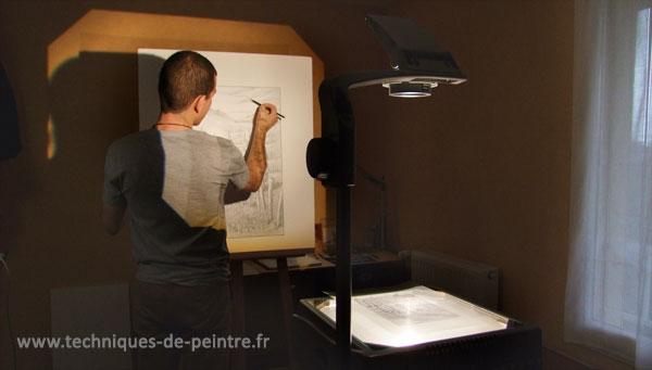 projecteur-dessin-techniques-de-peintre