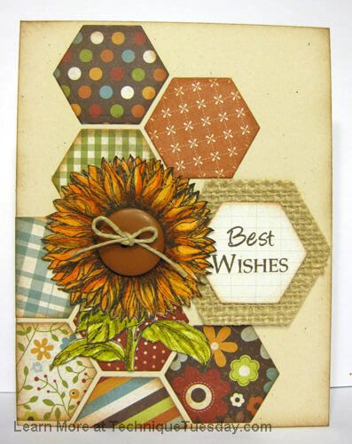 Best Wishes Greenhosue Card Paper Craft Project Idea