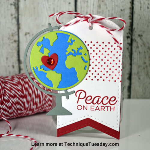 Peace On Earth Tag Paper Craft Project Idea Technique