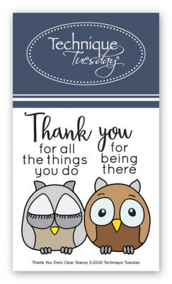 thank you owls stamp