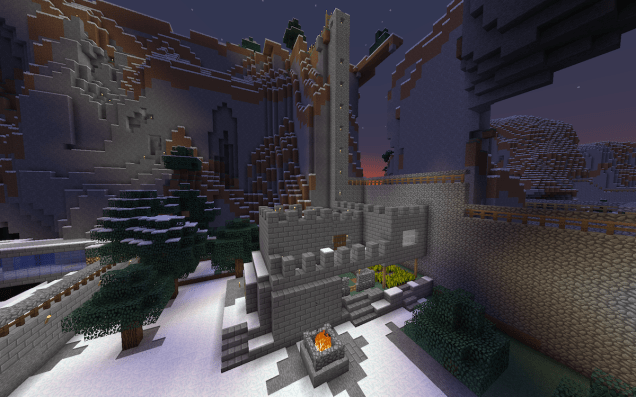 Minecraft Screenshot of a Castle
