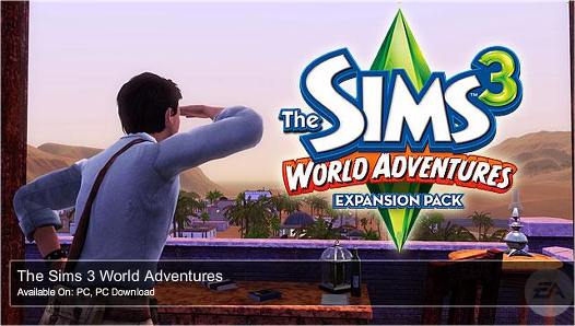 Pre-Order The Sims 3 World Adventures expansion pack
