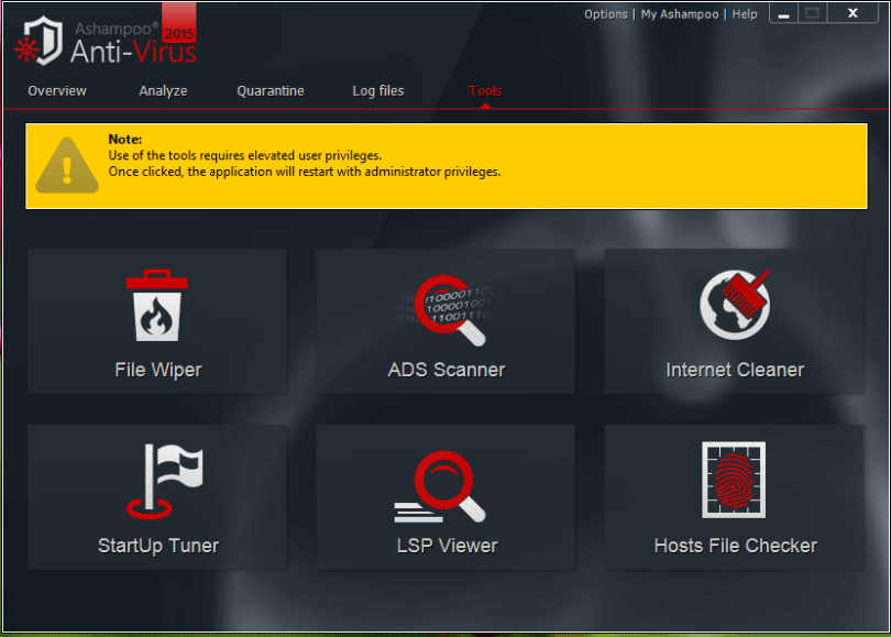 ashampoo antivirus 2015 tools