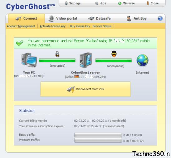 cyberghost accounts