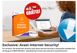 Avast Internet Security Free for 365 Days