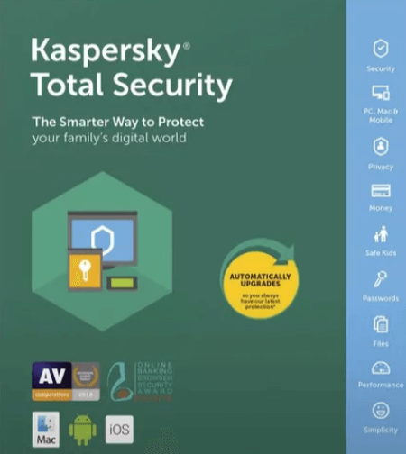 Kaspersky Total Security 2019 Free for 92 Days [Win, Mac & Android]