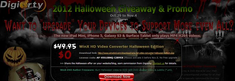 Get WinX HD Video Converter Halloween Edition free