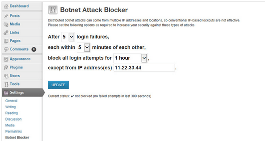 Get Botnet Attack Blocker plugin to Protect  your wordpress sites.