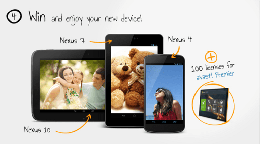 win nexus 10 with avast photo contest