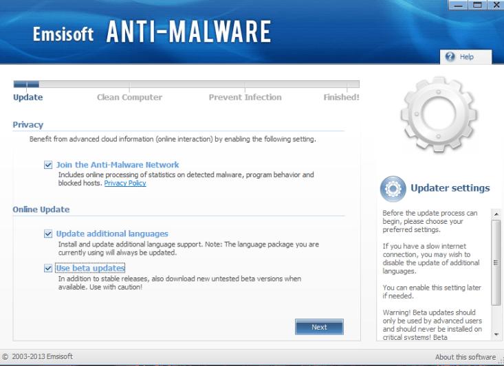 Emsisoft Anti-Malware 8 beta