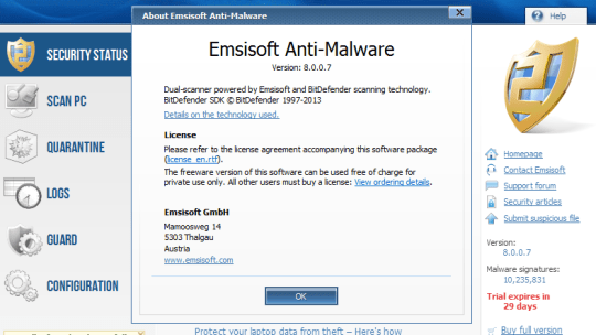 Emsisoft Anti-Malware 8 Beta