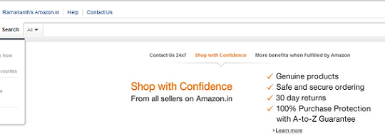 Amazon.in Launched