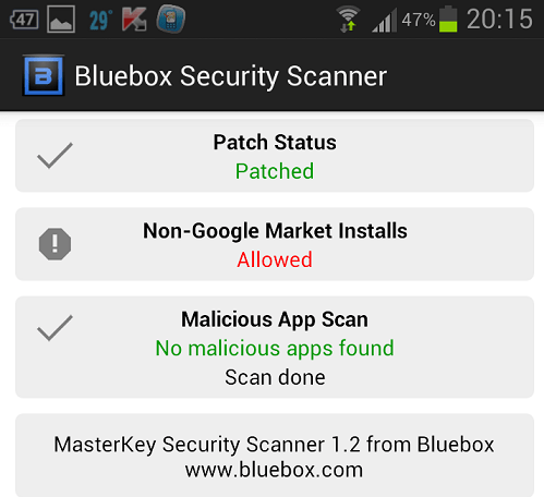 Bluebox Security Scanner