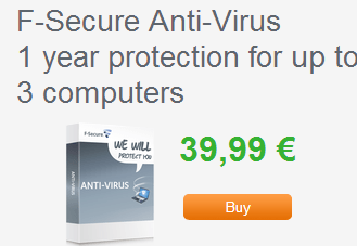 F-Secure Antivirus 2013 free for 1 Year