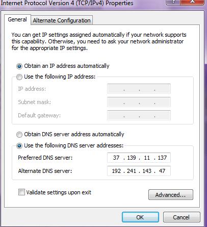 smart dns server addresses