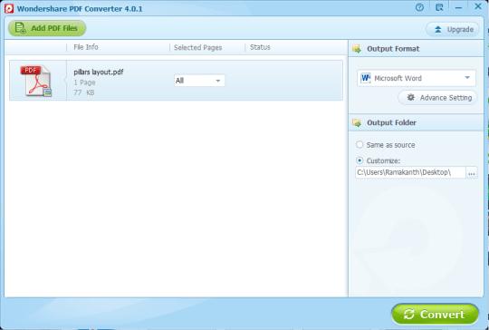 wondershare pdf converter 4.0.1