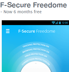 Get F-Secure Freedome VPN free for 1 Year
