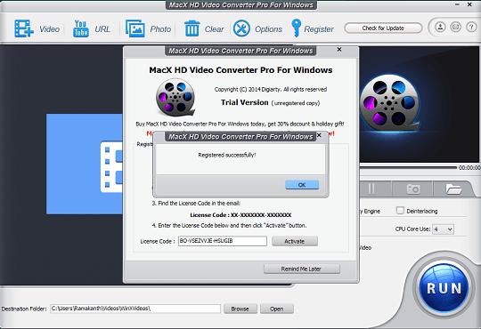 macx hd video converter pro license