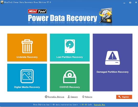 MiniTool power data recovery 7