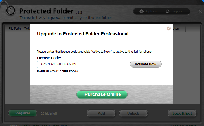 Iobit Protected Folder pro license