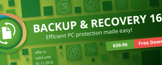Paragon Backup and Recovery 16 for Free