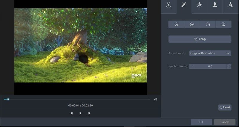 AceThinker Video Master Video trim feature