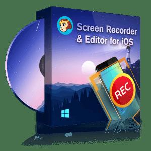 DVDFab Screen Recorder & Editor for iOS box
