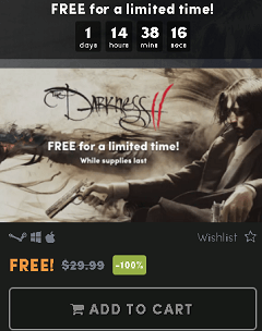 The Darkness 2 Game FREE Until March 28 [Win & Mac]