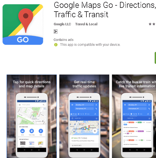 Google Maps Go – Light and fast Maps
